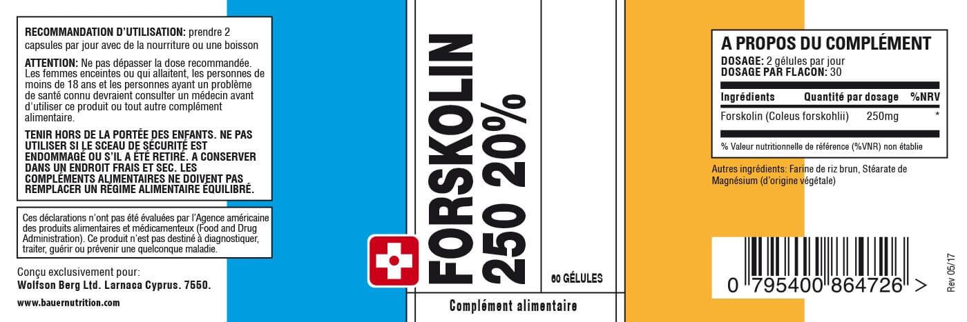 Composition du Forskolin 250